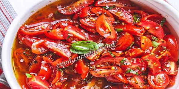 Kiraz Domates Salatası Nasıl Yapılır - viphanimlar.com
