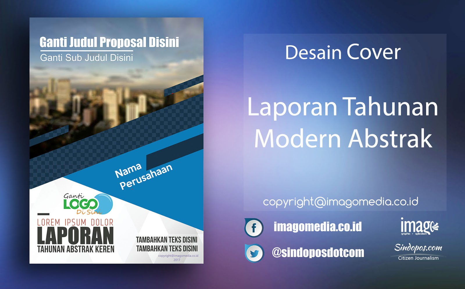 Download Template Desain Modern Cover Laporan Tahunan