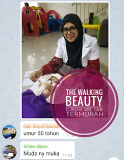Kursus spa murah, twb, the walking beauty, kursus mobile spa