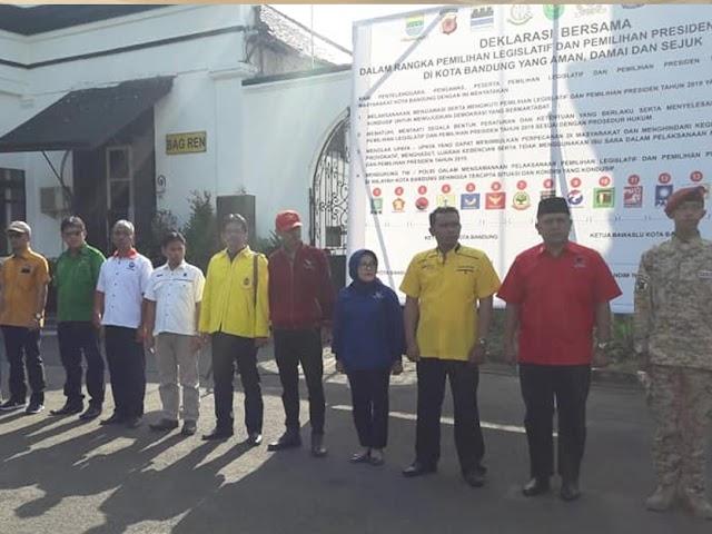 Deklarasi Damai Pemilu 2019 Digelar di Lapang Mapolrestabes Bandung