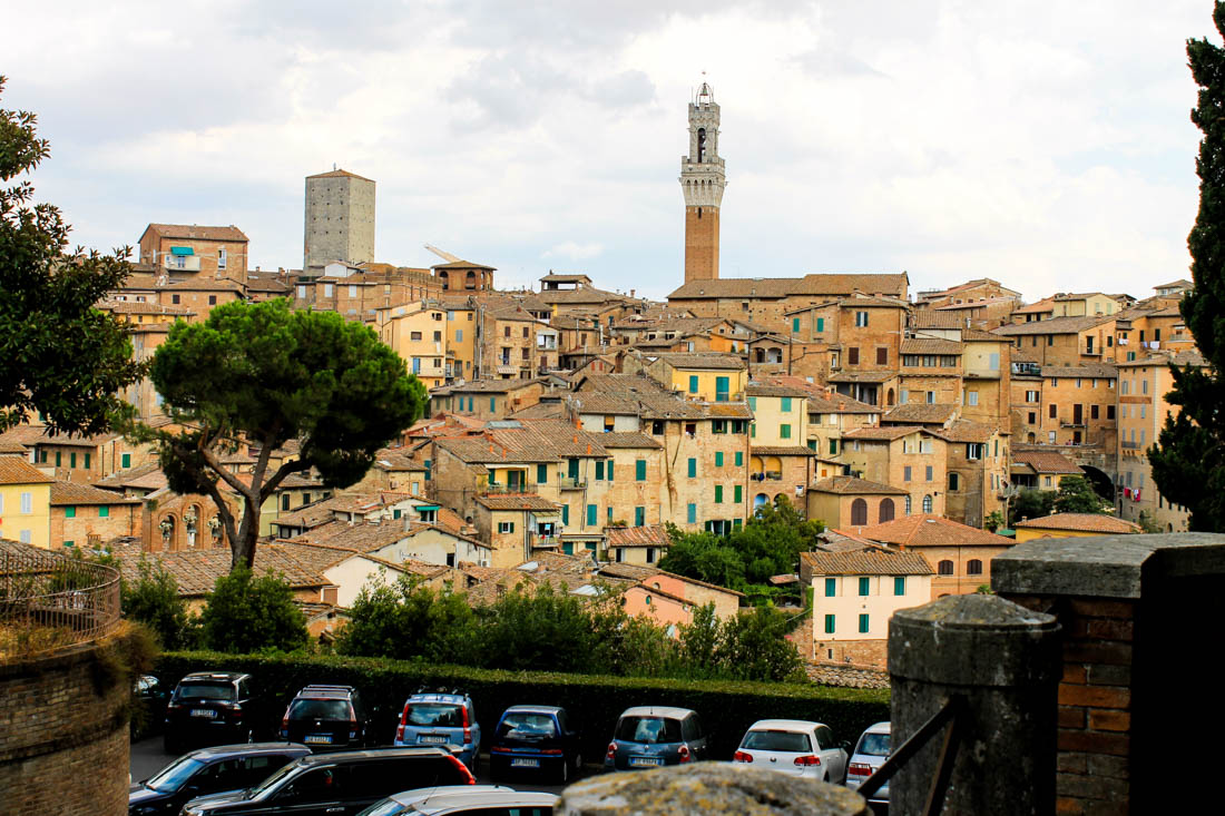 View to Siena city centre