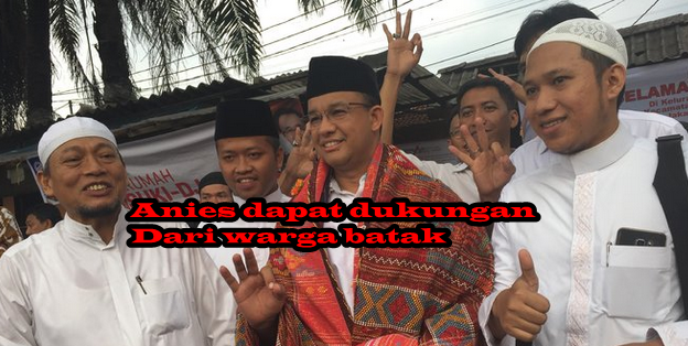 Anies dapat dukungan warga batak. ©2017 Merdeka.com