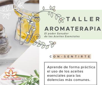 taller, aromaterapia, Yoga Inbound