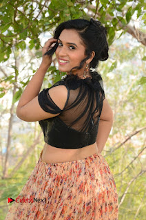Actress Chetana Uttej Stills in Floral Long Skirt at Pichiga Nachav Movie Press Meet  0015.JPG