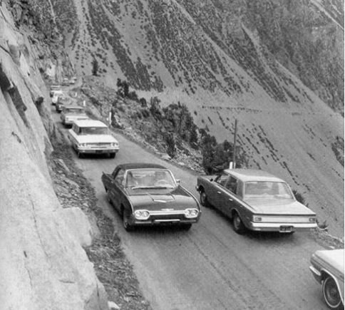 1963 photo of CA State Route 120, Tioga Pass