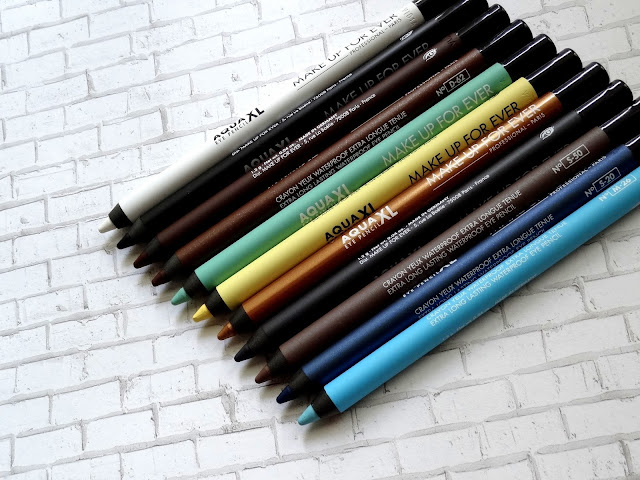 Make Up For Ever Aqua XL Eye Pencils Review, Photos, Swatches