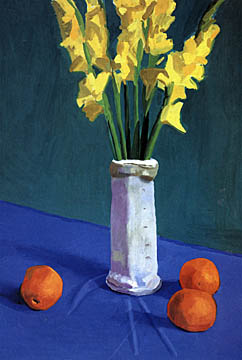 My Favorite Paintings Donuts Hockney Flowers Hockney Looking Portrait