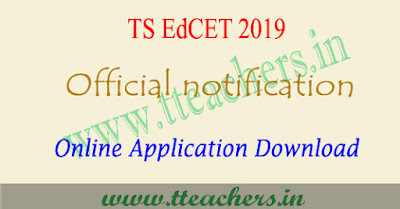 TS EdCET 2019 notification , eligibility, online apply, exam date