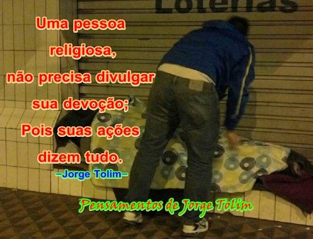 Uma pessoa religiosa...