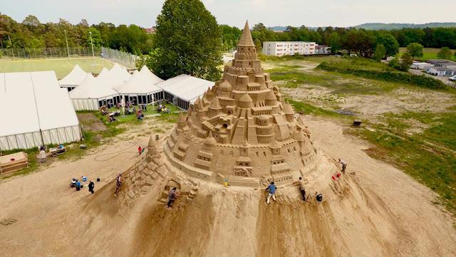 tallest sandcastle, largest sandcastle, Sand Skulptern Festival in Binz, Rügen