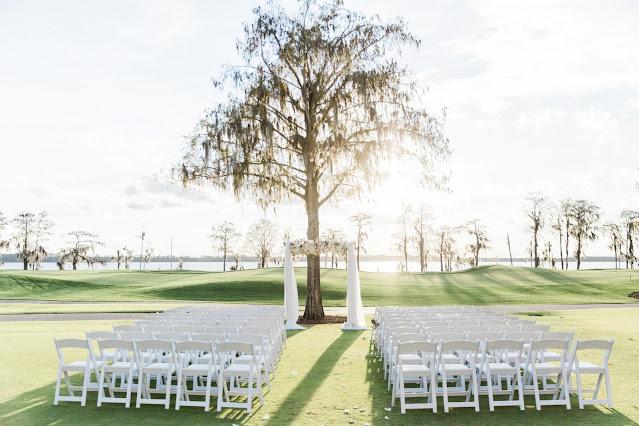 wedding ceremony setup outdoors