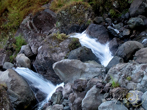 Twin falls of the Eddet River in Kabayan Benguet along Akiki trail going to Mt. Pulag