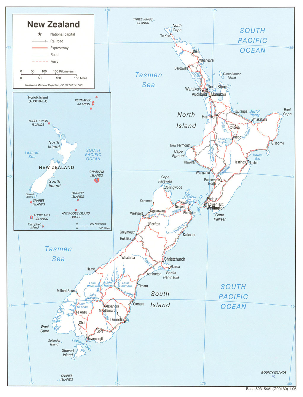 Kaart Australie En Nieuw Zeeland Kaart Nieuw Zeeland En Wellington