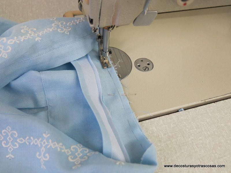 como coser cuello de tira o cuello mao