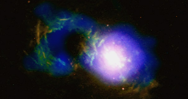 Credit: X-ray: NASA/CXC/University of Cambridge/G. Lansbury et al; optical: NASA/STScI/W. Keel et al