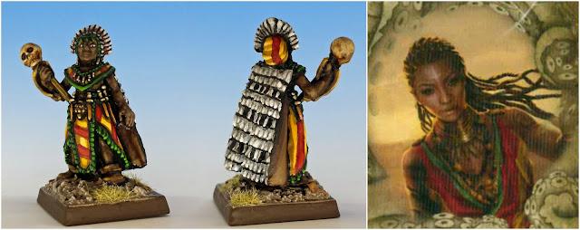 Akachi Onyele shaman painted miniature
