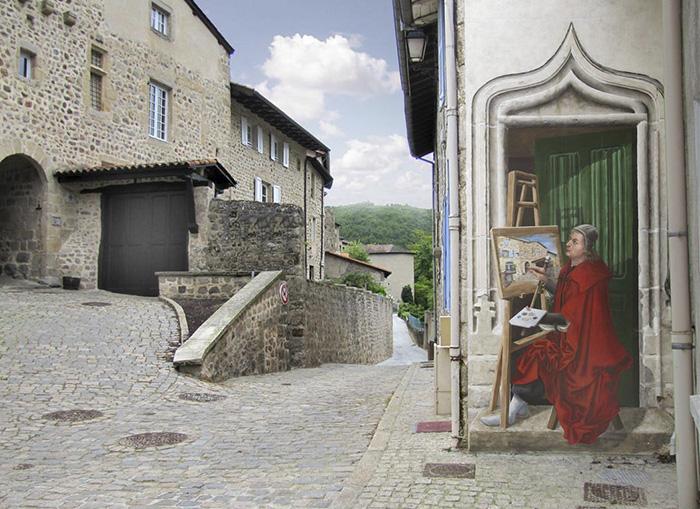 French Artist Transforms Boring City Walls Into Vibrant Scenes Full Of Life - Porte de l'amour courtois