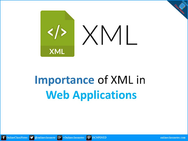Explain the importance of XML in web applications.