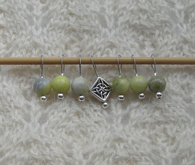 knitting stitch markers for St. Patrick's day