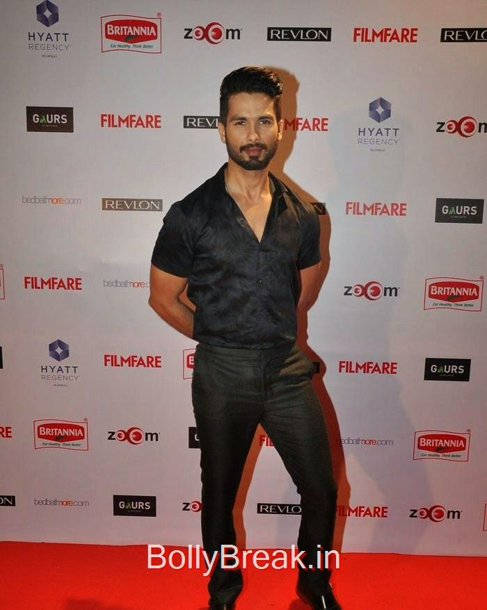 Shahid Kapoor, 60th Britannia Filmfare Awards pre-awards Party 2015 Red Carpet Pics