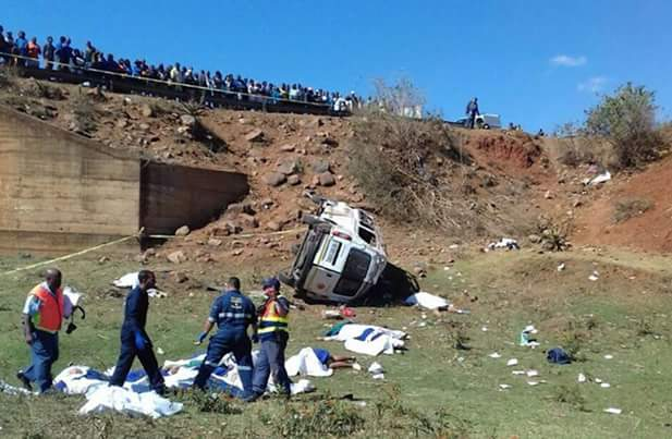 Photos: 18 passengers dead in horrific taxi crash in South Africa