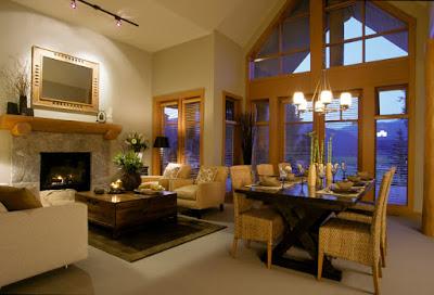 Desain Interior Ruang Keluarga dan Ruang Makan Minimalis yang Menyatu
