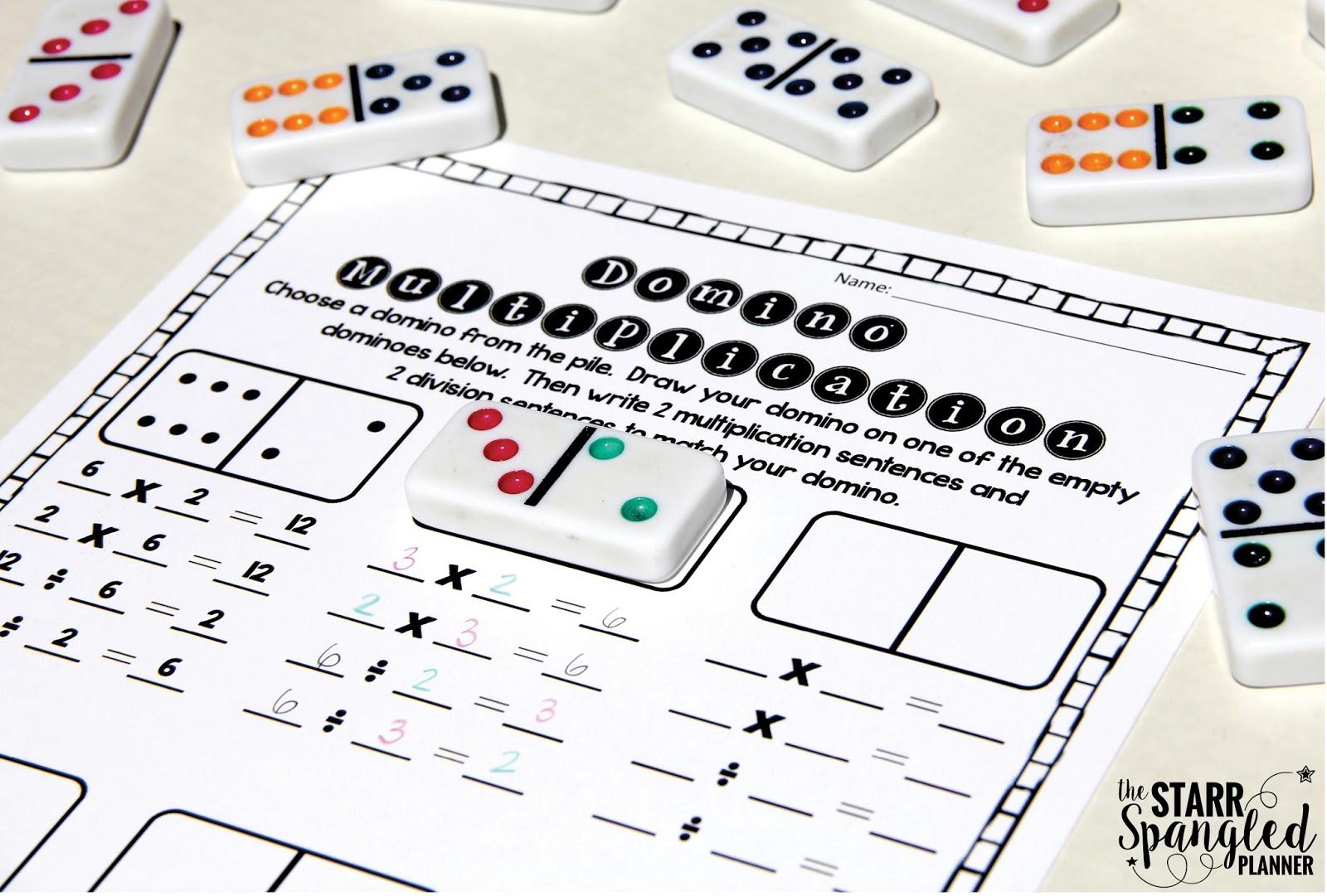 10 Multiplication Math Center Games Amp Activities