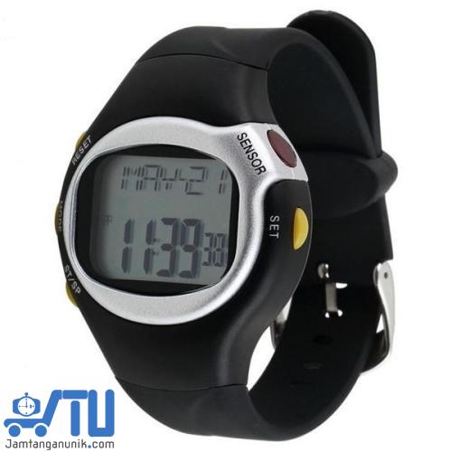 jam tangan olahraga fitness pengukur kalori detak jantung anti air