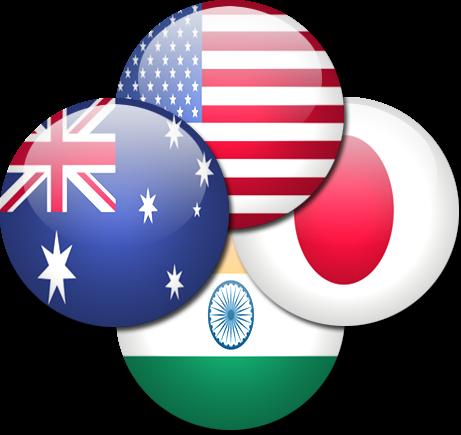 Image result for quad india us japan