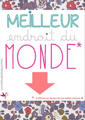 Affiche Déco Atelier Couture