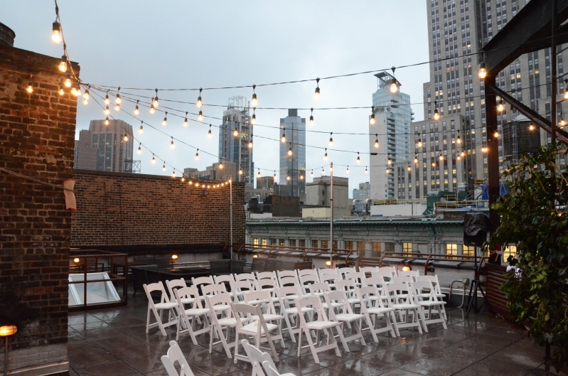 universal light and sound recent events string lights rooftop