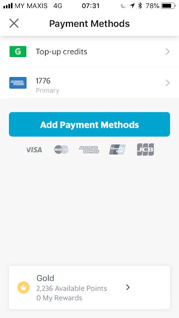 GrabPay - Set default payment method