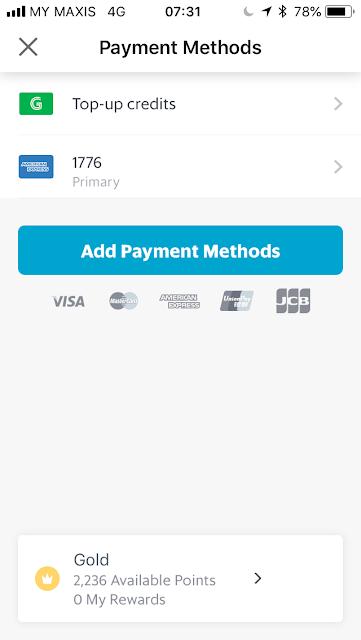 GrabPay - Set default payment method