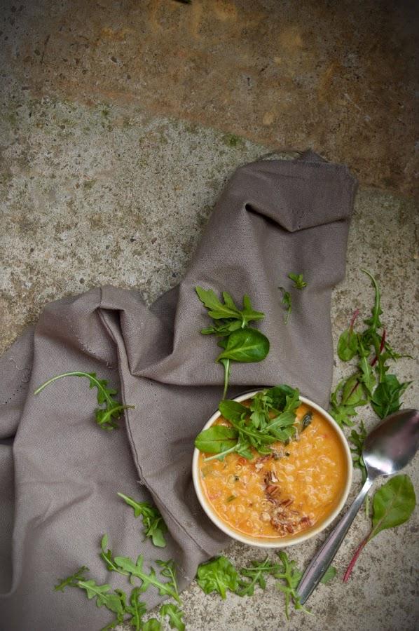 Sopa dhal de lentejas rojas