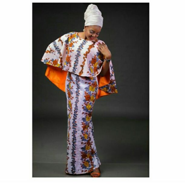 Ankara style with a big Cape to hide belly fat