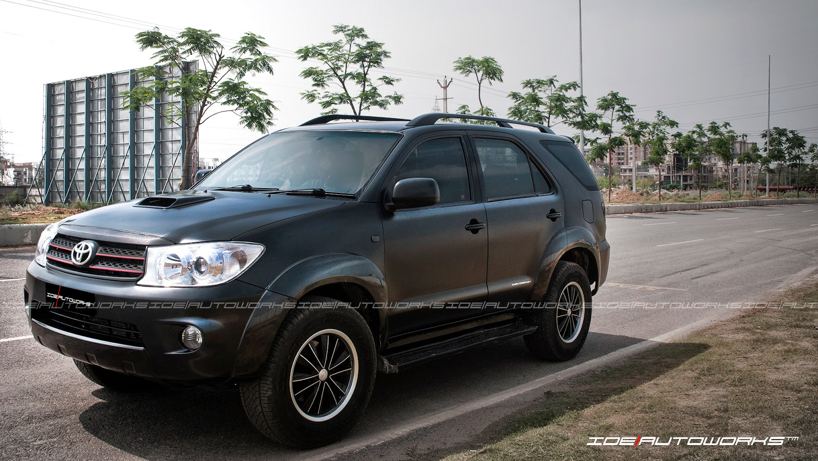 Toyota Fortuner Satin Matte Black Full Car Wrap Ide Autoworks