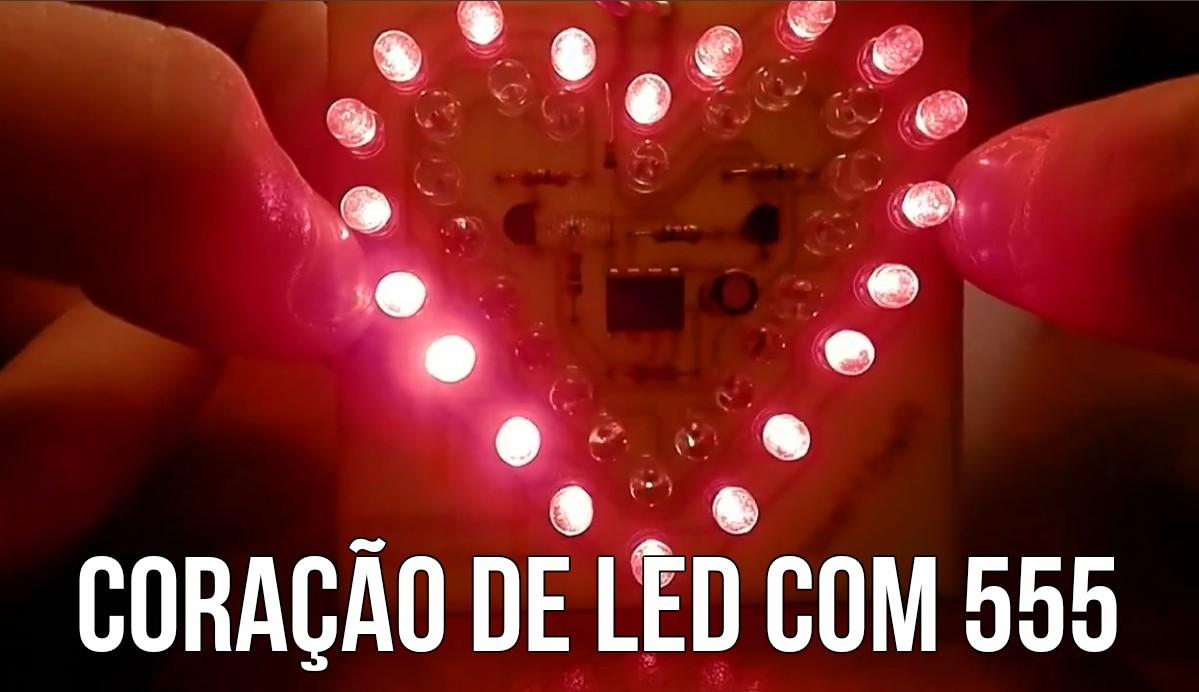 Simples coração de LED com 555