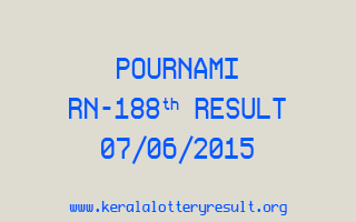 POURNAMI RN 188 Lottery Result 7-6-2015