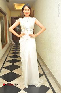 Actress Pragya Jaiswal Stills in Beautiful White Dress at turodu Audio Launch  0031.JPG
