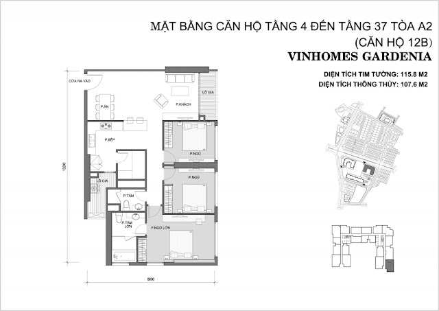 12B - Tòa A2 Vinhomes Gardenia