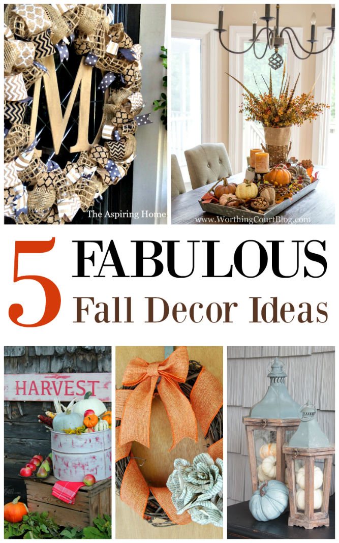 The Life of Jennifer Dawn: 5 Fabulous Fall Decor Ideas and A Little Bird Told Me Link Party #158