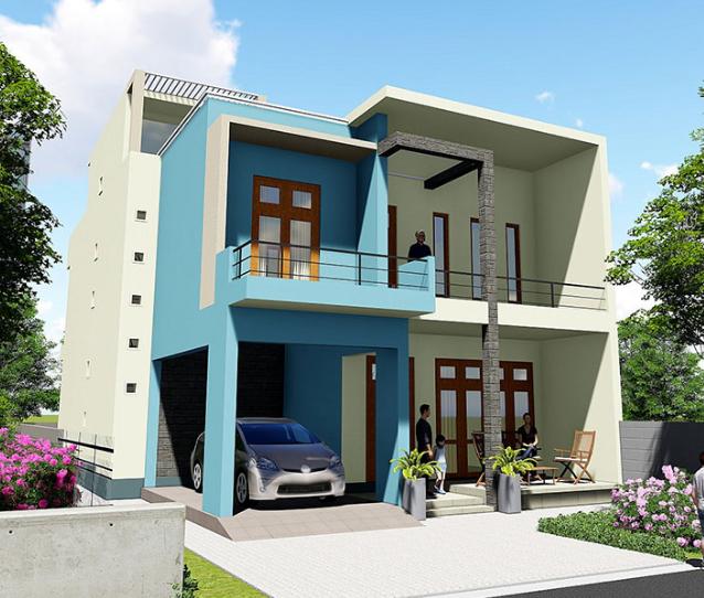 Model rumah minimalis 2 lantai modern terbaru - Desain rumah minimalis 2 lantai