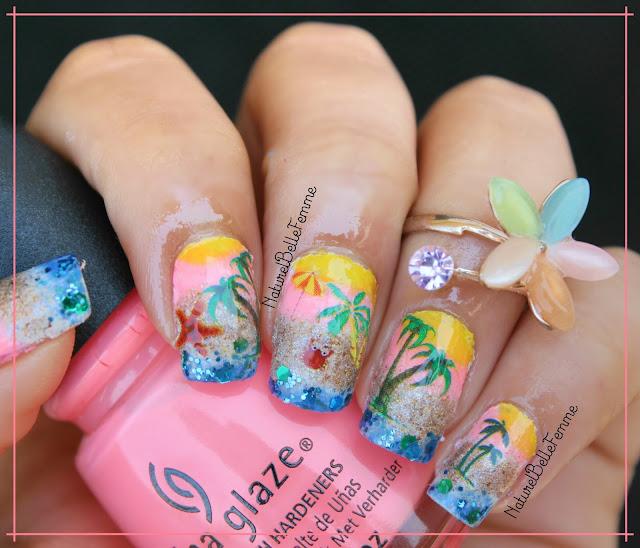 beach manicure