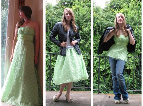 refashion long bridesmaid dresses