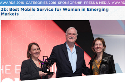 Global Mobile Awards 2016 Mobile Service For Women in Emerging Markets