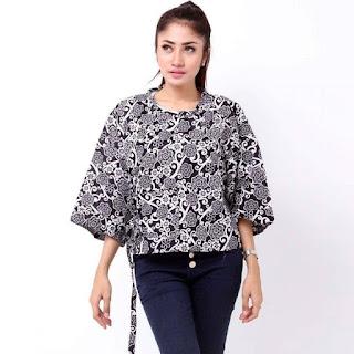 model baju batik atasan untuk orang gemuk agar terlihat langsing