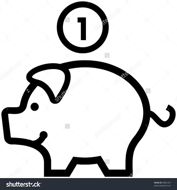 Piggy Bank  Vector Illustration Money And Finance