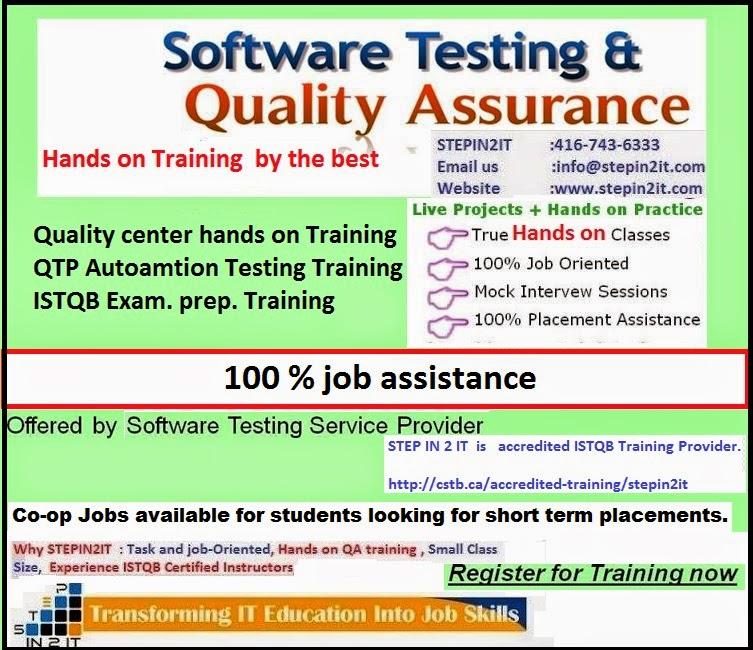 QA training Brampton: Software Testing & QA Training – Manual