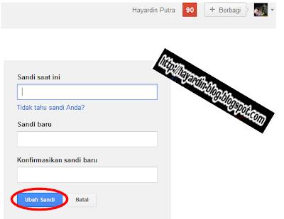 Cara Mengubah Password atau Sandi Email di Gmail.com