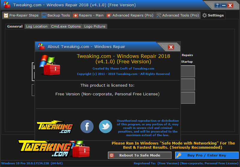tweaking.com - windows repair key